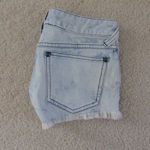 Free People Shorts - Free People  Pinstrip shorts with frayed hem
